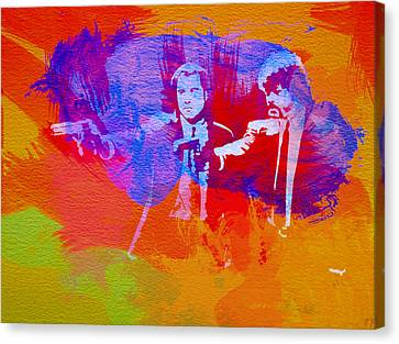 Movie Art Canvas Print - Pulp Fiction 2 by Naxart Studio
