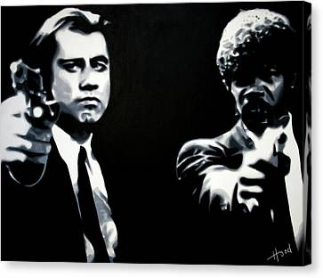 Pulp Fiction Canvas Print by Luis Ludzska