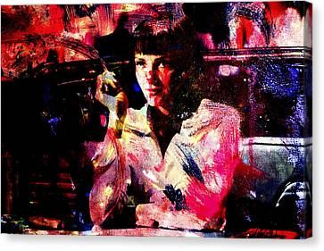 Pulp Fiction Uma Thurman Canvas Print by Brian Reaves