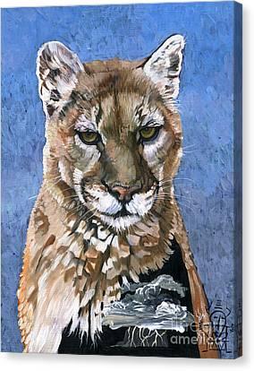 Puma - The Hunter Canvas Print by J W Baker