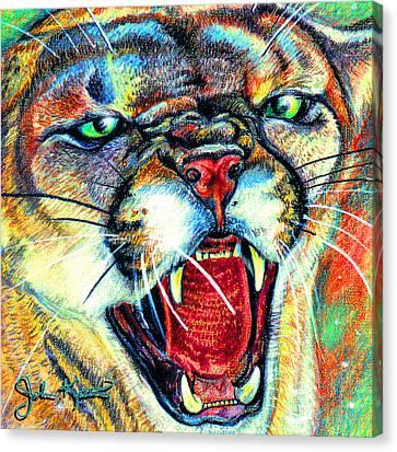 Puma Canvas Print by John Keaton