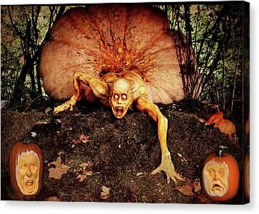 Creepy Canvas Print - Pumpkin Eater by Jessica Jenney