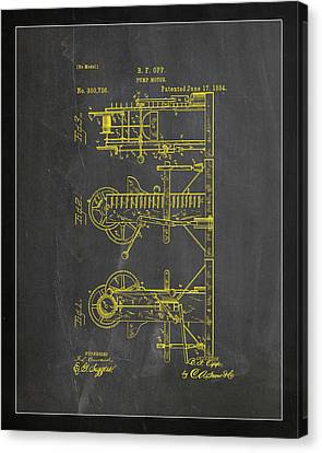 Pump Motor Patent Drawing 1b Canvas Print