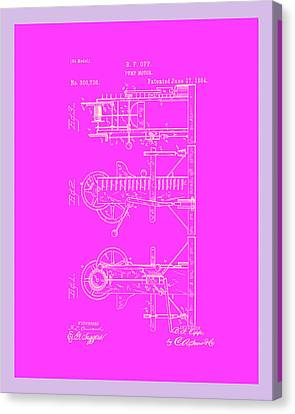 Pump Motor Patent Drawing 1c Canvas Print