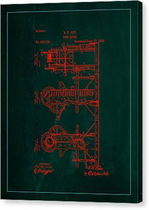 Pump Motor Patent Drawing  Canvas Print