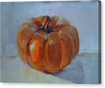Canvas Print - Pumpkin Alone  by Donna Shortt