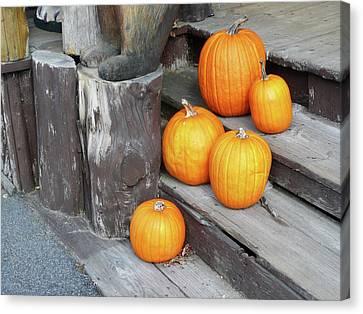 Pumpkin Autumn In Adirondacks Canvas Print by Kate  Leikin
