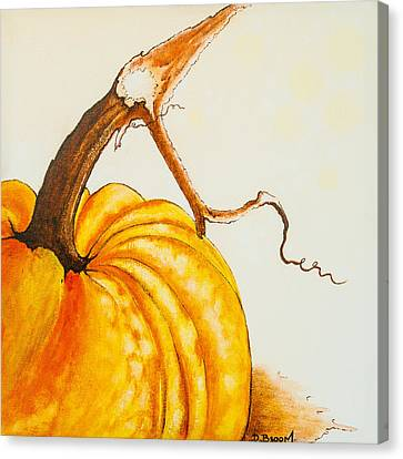 Pumpkin Canvas Print by Dawn Broom