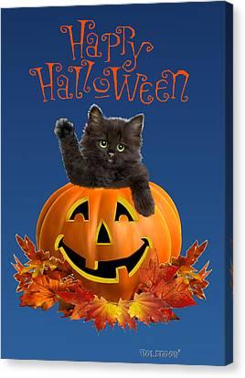 Pumpkin Kitty Canvas Print