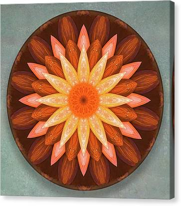 Pumpkin Mandala -  Canvas Print
