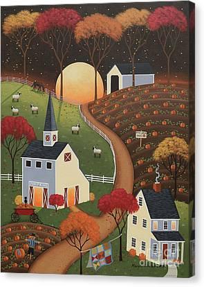 Pumpkin Moon Canvas Print
