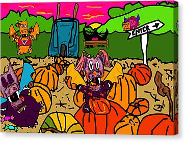 Pumpkin Patch Canvas Print by Jera Sky