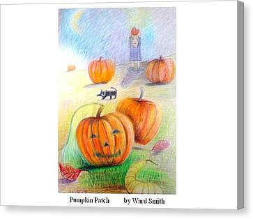 Pumpkin Patch Canvas Print by Ward Smith