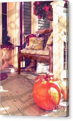 Pumpkin Porch Canvas Print