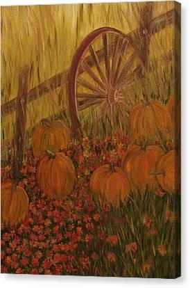 Pumpkin Wheel Canvas Print by Shiana Canatella