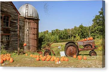Farm Stand Canvas Print - Pumpkins For Sale Thanks For Your Honesty by Edward Fielding