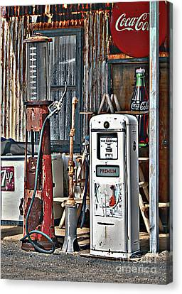 Canvas Print featuring the photograph Pumps by Lee Craig