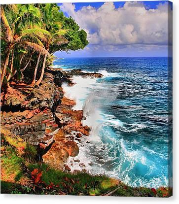Canvas Print featuring the photograph Puna Coast Hawaii by DJ Florek