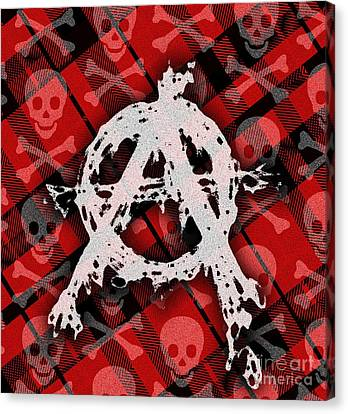 Punk Anarchy Canvas Print