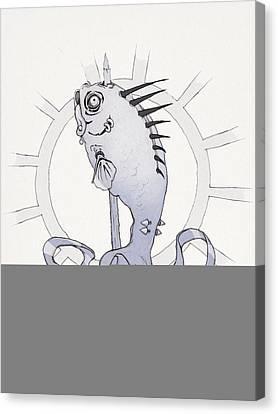 Punk Fish Canvas Print by Ethan Harris