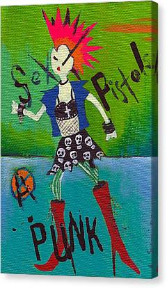Punk Rocks Her Canvas Print by Ricky Sencion