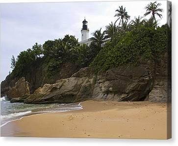 Punta Tuna Light House And Beach Reserve Puerto Rico Canvas Print by Stephen Carver