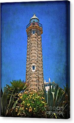 Punto Doncela Lighthouse Canvas Print by Mary Machare
