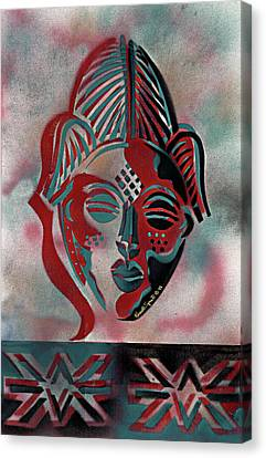Punu Mask Canvas Print