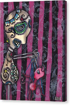 Puppet Master Canvas Print by  Abril Andrade Griffith