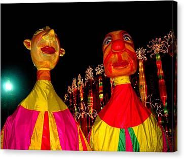 Puppets Canvas Print by Fareeha Khawaja