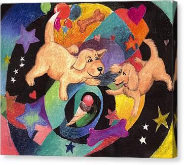 Puppy Dog Dream Canvas Print