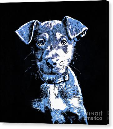 Puppy Dog Graphic Novel Drawing Canvas Print by Edward Fielding