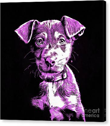 Puppy Dog Graphic Novel Drawing IIi Canvas Print