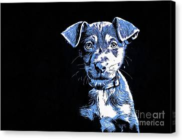 Puppy Dog Graphic Novel  Canvas Print by Edward Fielding