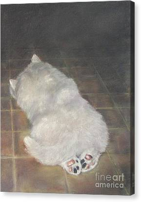 Puppy Feet Canvas Print by Elizabeth Ellis
