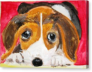 Puppy For Love Canvas Print
