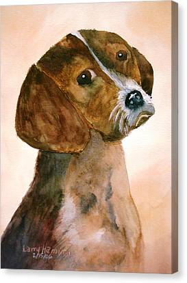 Puppy Canvas Print by Larry Hamilton