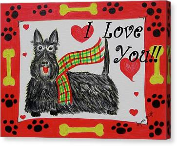 Puppy Love Canvas Print by Diane Pape