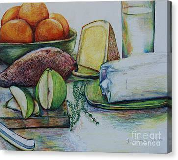 Purchases From The Farmers Market Canvas Print by Anna Mize Bell