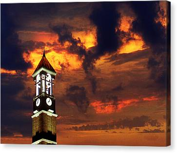 Purdue Bell Tower Canvas Print by Purdue University