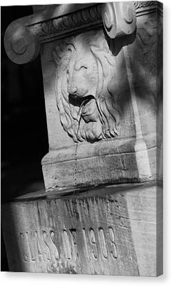 Purdue Lion Fountain Canvas Print by Coby Cooper