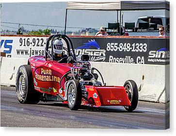 Drag Racing Canvas Print - Pure Adrenaline by Bill Gallagher