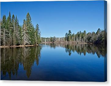 Canvas Print featuring the photograph Pure Blue Waters 1772 by Michael Peychich