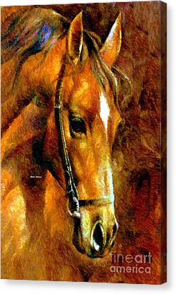 Pure Breed Canvas Print by Rafael Salazar