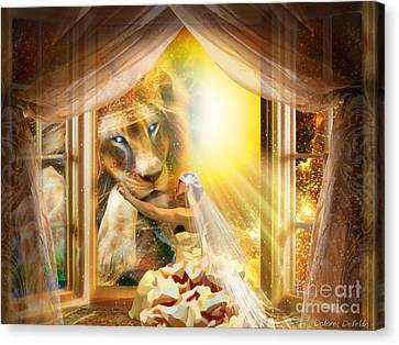 Holy Husband Canvas Print by Dolores Develde