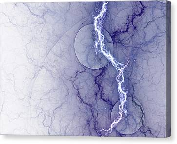 Shock Canvas Print - Pure Energy by Martin Capek