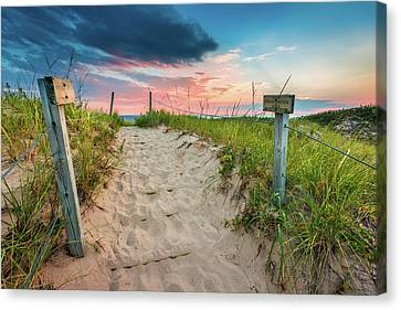 Canvas Print featuring the photograph Pure Michigan Sunset by Sebastian Musial