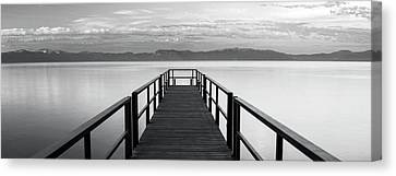 Canvas Print featuring the photograph Pure State Of Mind Lake Tahoe Pier by Brad Scott