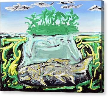 Canvas Print featuring the painting Purgatorium Praedator by Ryan Demaree