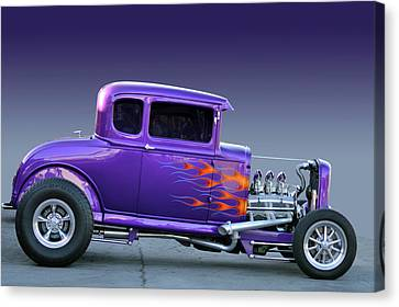 Canvas Print featuring the photograph Purp Ride by Bill Dutting